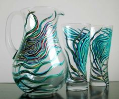 Peacock feather pitcher! by Pirula85