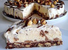 *Συνταγές απλές και εύκολες*: Παγωτό τούρτα με μπισκότα! Party Desserts, Dessert Recipes, Condensed Milk Ice Cream, Frozen Yoghurt, Greek Recipes, Cheesecake, Food To Make, Sweet Tooth, Sweets