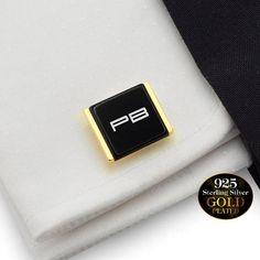 Personalized cufflinks,Husband Gift,Personalized Gift for Men,Gift for Men,Anniversary gift Custom Cufflinks Silver 925,Initial Cufflinks
