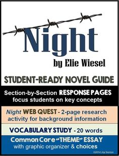 elie essay night wiesel full