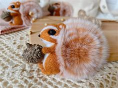Squirrel Felting Kit Needle Felting Kit Squirrel Felting | Etsy All You Need Is, Beginner Felting, Cute Squirrel, Needle Felting Kits, Starter Kit, Billie Eilish, Wool Felt, Funny Quotes, Make It Yourself