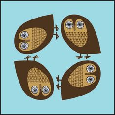 Brown Owl Coaster £2.50 - Kitchen & Dining - Placemats and Coasters ILLUSTRATED LIVING