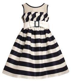 Size-6X, Navy, BNJ-6922R, Navy-Blue and White Bias Striped Illusion Neckline Dress,Bonnie Jean Little Girls Party Dress Bonnie Jean, http://www.amazon.com/dp/B00B1SY5CE/ref=cm_sw_r_pi_dp_YW3-qb11R5MSA