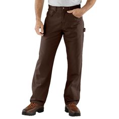 $30.95 Carhartt Carpenter Jeans - Loose Fit (For Men) in Dark Brown