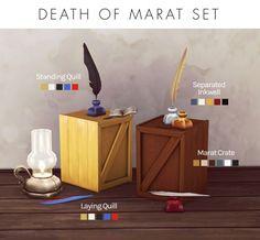 Death of Marat Set at Femmeonamissionsims • Sims 4 Updates