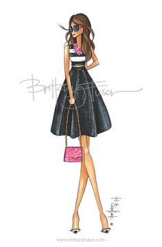 ❤️Brittany Fuson Her designs are fabulous Illustration Mode, Fashion Illustration Sketches, Fashion Design Sketches, Arte Fashion, Girl Fashion, Womens Fashion, Modelos Fashion, Fru Fru, Dress Sketches