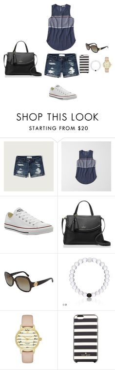 """Weekend hangout"" by angelafashion23 ❤ liked on Polyvore featuring Abercrombie & Fitch, Converse and Kate Spade"