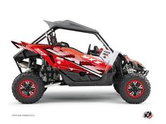 Kit Déco SSV Flow Yamaha YXZ 1000 R Rouge - Kutvek Kit Graphik