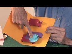 Pop-Up Tutorial 24 - Moving Arms - Part 2 - Circular Motion Arte Pop Up, Pop Up Art, Pop Out Cards, Pop Up Greeting Cards, Fancy Fold Cards, Folded Cards, Pop Up Tutorial, Kirigami, Origami Templates
