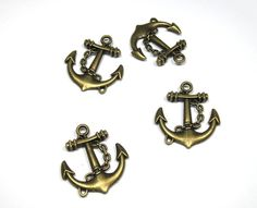 2pcs Bronze vintage style anchor pendant Necklace DIY by eSupply, $1.29
