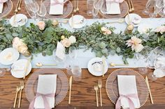 Four Seasons Resort Scottsdale at Troon North, Amy & Jordan Photography, Look at this reception space!, Table garland, romantic greenery head table, large romantic blush table centerpiece, blush and gold, blush wedding centerpiece, greenery, blush rose, blush dahlia, white rose, garden rose, large bouquet, eucalyptus greens, dusty miller, lush floral wedding ceremony
