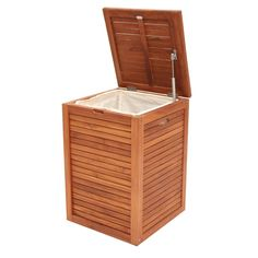 Single Laundry Hamper - All Over Teak - T&W Unbranded Events 2015