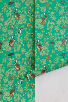 Mushroom and Rabbit Forest Wallpaper - My love for Leviathan never dies - anthropologie.com