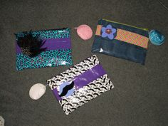 I made these three (and more) duct tape pencil pouches for friends for Christmas.