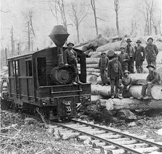 Narrow-gauge, geared locomotives enabled the timbering of millions of acres in the late 1800s and early 1900s.