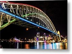 Vivid Harbour Metal Print by Miroslava Jurcik. All metal prints are professionally printed, packaged, and shipped within 3 - 4 business days and delivered ready-to-hang on your wall. Got Print, Sydney Harbour Bridge, Carry On, Fine Art America, Art Photography, Wall Art, Metal, Prints, Artwork