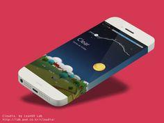 Cloudia, weather app on App Design Served