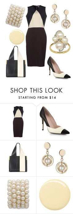 """""""Work Outfit 14"""" by office-girl ❤ liked on Polyvore featuring Victoria Beckham, Kate Spade, Chloé, Topshop, Deborah Lippmann, Lord & Taylor, women's clothing, women's fashion, women and female"""