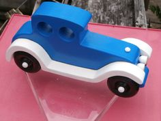 Old fashion style touring auto, wooden car, wood toy, imagination toy push pull, classic touring car