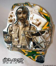 Most Intimidating Mask Ever. #Goalie #Mask #DaveArt #ChuckNorris