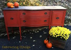 Embracing Change: Gorgeous Antique Sideboard: The Reveal