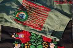 Awesome embroidered vintage military jacket.