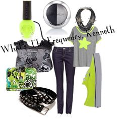 """""""What's The Frequency, Kenneth"""" by kestrelicious on Polyvore"""