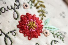 the red embroidered flower   Flickr - Photo Sharing!