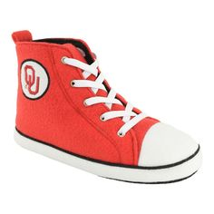 Adult Oklahoma Sooners Hight-Top Sneaker Slippers, Adult Unisex, Size: Medium, Dark Red