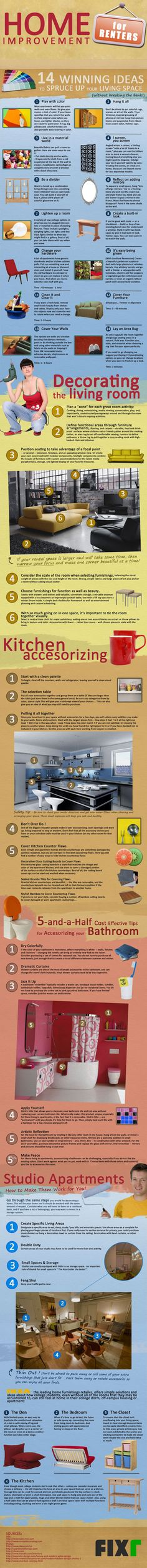 Home Improvement for Renters- Infographic   Miscellaneous