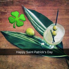 Green cocktails for Saint Patrick's Day