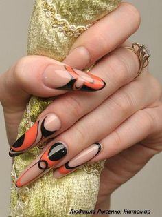 Too long for me and not a fan of color combo BUT.. Love the nails, beautiful job!