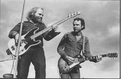 Dusty Hill and Billy Gibbons 1970. Early ZZ TOP
