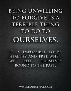 Stuck in the past...I have seen unforgiveness of things that happened in the past destroy so many people! It's not worth holding the grudge!