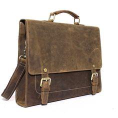 Handcrafted Rustic Leather Laptop Bag, Business Briefcase, Mens Briefcase Men Messenger bag