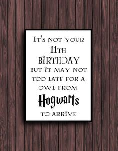 Harry Potter Birthday Card digital download by BeckiBoos on Etsy