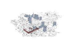 Image 13 of 17 from gallery of Schauman & Nordgren Lead Competition-Winning Design for Mixed-Use Customs District in Finland. Photograph by Schauman & Nordgren Mixed Use, Finland, Competition, Drawing Architecture, Central, Urban Design, Gallery, Drawings, Presentation