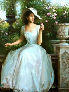 Romantic Paintings of Women by An He Romantic Paintings, Beautiful Paintings, Victorian Paintings, Victorian Artwork, Princess Aesthetic, Victorian Women, Victorian Era, Classical Art, Renaissance Art