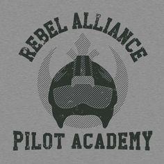 Shop Rebel Alliance Pilot Academy parody t-shirts designed by SergioDoe as well as other parody merchandise at TeePublic. Rebel Scum, Rebel Alliance, A New Hope, Star Wars Rebels, Star Wars Collection, Love Stars, Disney Star Wars, Star Wars Art, Tee Design