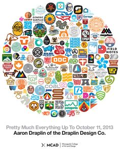 Pretty Much Everything Up To October 2013 - Aaron Draplin of the Draplin Design Co. Draplin Design, Go Logo, Badge Logo, Best Logo Design, Branding Design, Logo Inspiration, Negative Space Logos, Geometric Logo, Badge Design