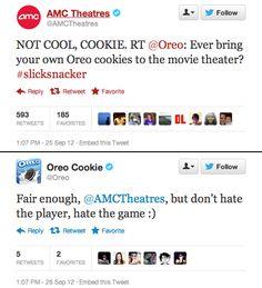 Un cine le habla a sus galletas y es normal. Twitter nos ha arruinado. (gracias, @redmarker !)