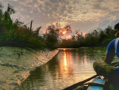 An evening in Sunderbans National Park. It's serene and magical experience.