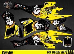 Can Am, Quad Atv, Rockstar Energy, Custom Wraps, Punk, Ds, Decals, Skull, Stickers