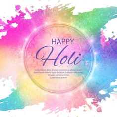 Illustration of abstract colorful happy holi background PNG and Vector Easter Illustration, Free Vector Illustration, Oil Painting Background, Watercolor Background, Happy Holi, Happy Diwali, Abstract Backgrounds, Colorful Backgrounds, Holi Photo