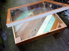 Reclaimed Wood Glass Top Shadow Box Coffee by RichmondReclaimed