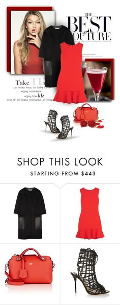 """..."" by bliznec ❤ liked on Polyvore featuring Bellini, Fendi, Boutique Moschino and Sophia Webster"