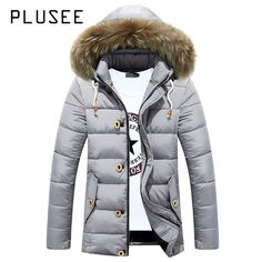 fe2b805be3d Plusee Winter Coat 2017 96% Duck Down Men Jacket Warm Male Hooded Coats  Fashion Thick Thermal Men Parkas Clothing Winter Coat-in Parkas from Men s  Clothing ...