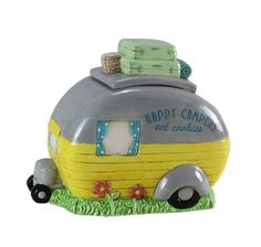 Shop teardropshop.com for great prices on camper decoration products, like our adorable happy camper cookie jar from Youngs Inc.!