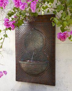 #Horchow.H23HU Mosaic Tile Wall Fountain
