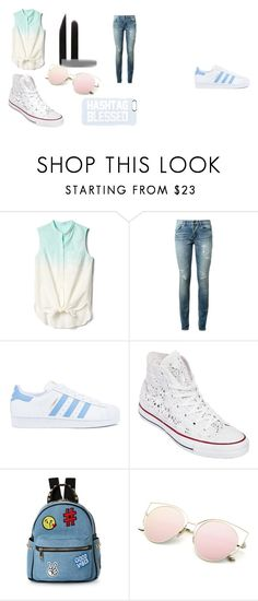 """""""OUTFITS #2"""" by ana-is-princess on Polyvore featuring moda, Gap, Yves Saint Laurent, adidas, Converse, IMoshion, Private Party y fashionset"""